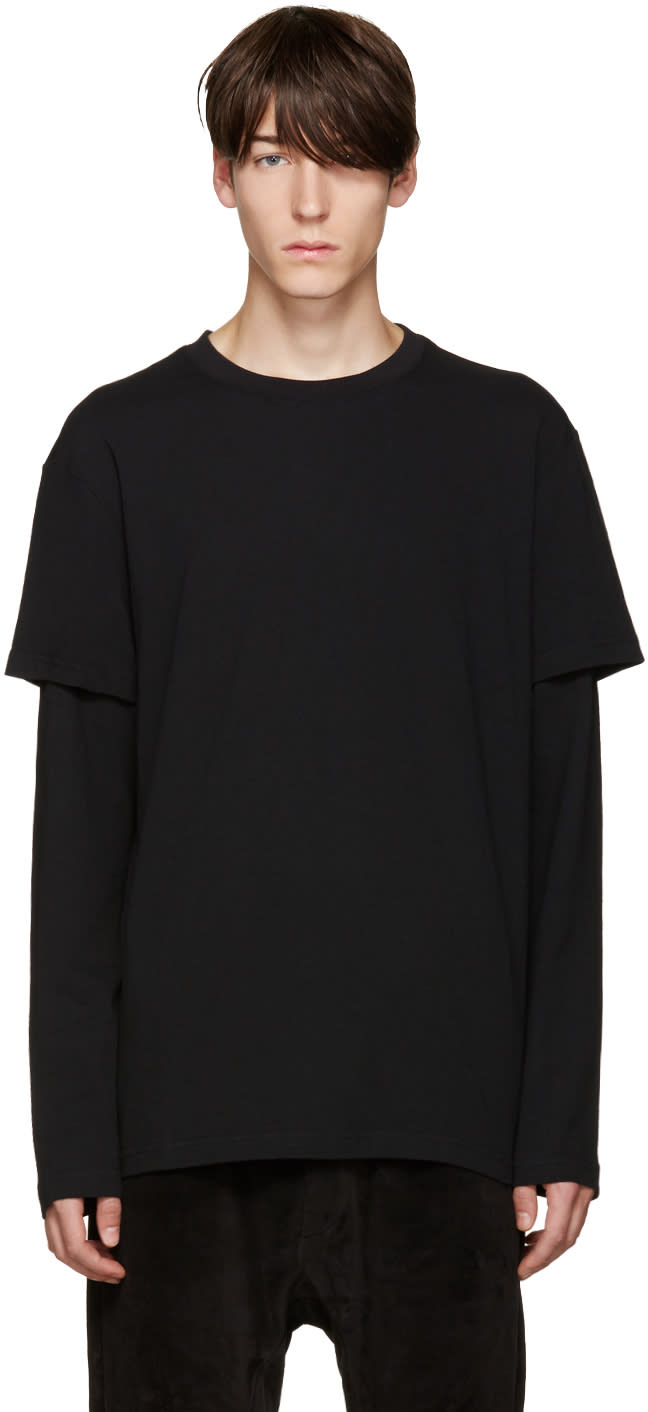 D By D Black Layered T-shirt