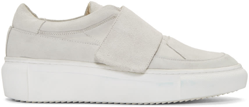D By D Grey Suede Velcro Sneakers