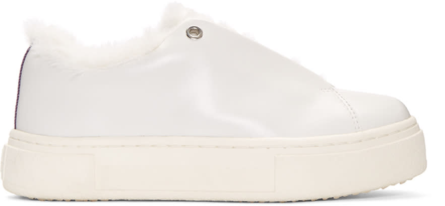 Eytys White Leather Doja Arctic Sneakers