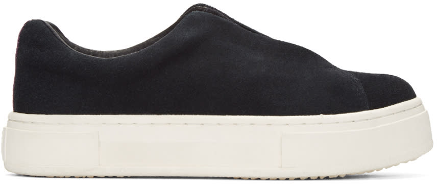 Eytys Black Suede Doja Slip-on Sneakers