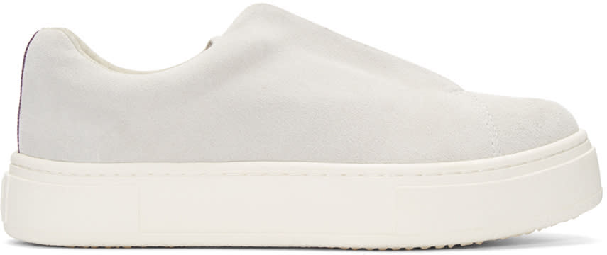 Eytys Off-white Suede Doja Slip-on Sneakers