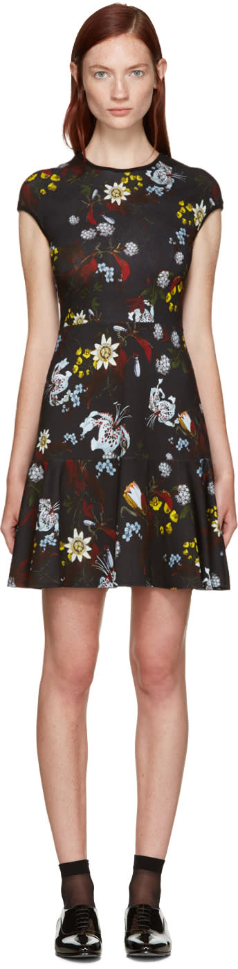Erdem Black Floral Darlina Dress