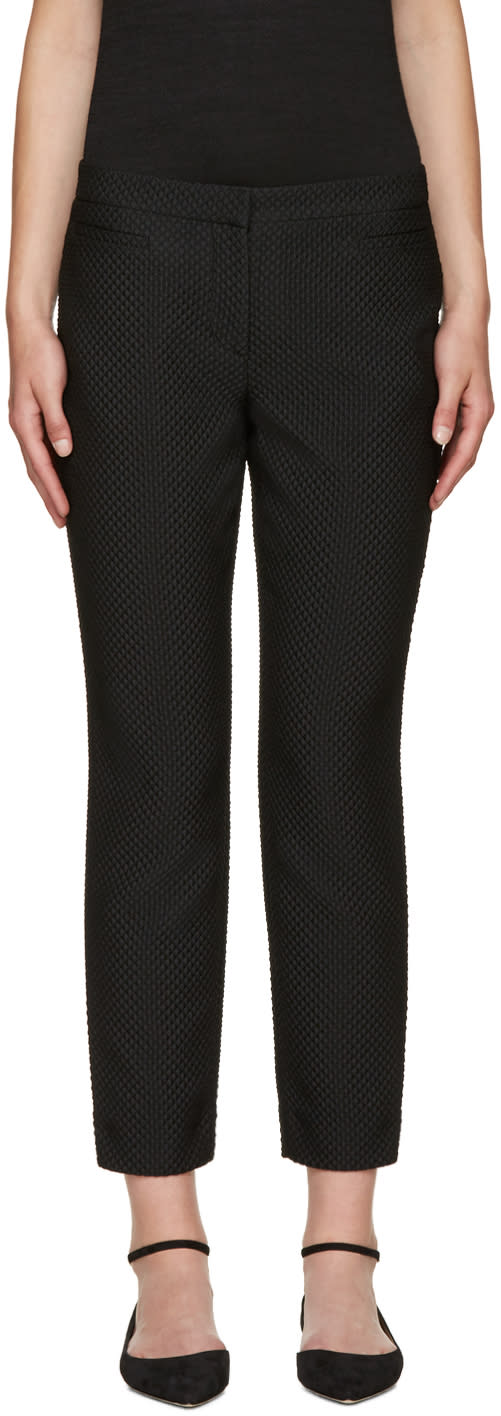 Erdem Black Sienna Fitted Trousers