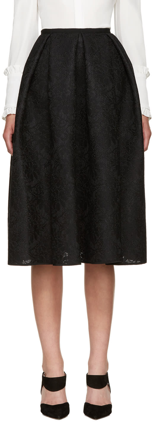 Erdem Black Mesh Lace Kit Dress