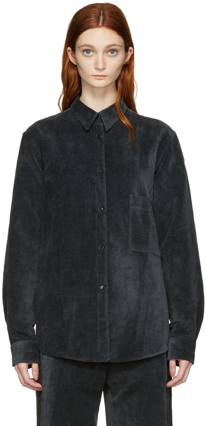 Lemaire Black Velvet Shirt