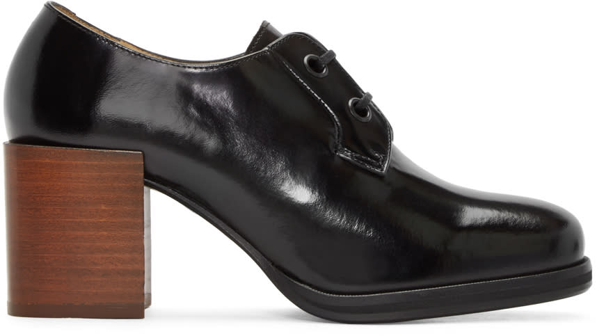 Lemaire Black Heeled Oxfords