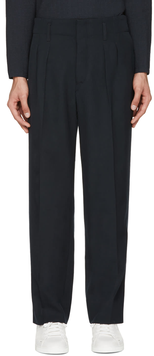 Lemaire Navy Carrot Trousers