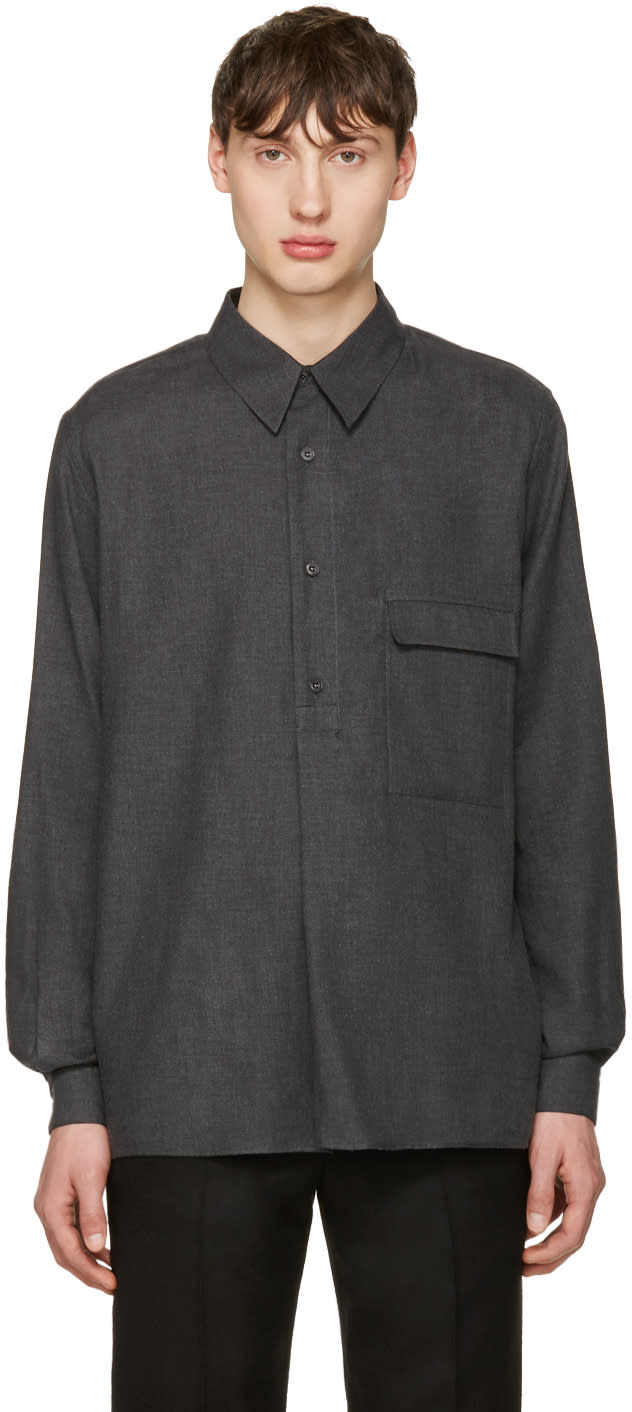 Lemaire Grey Twill Overshirt