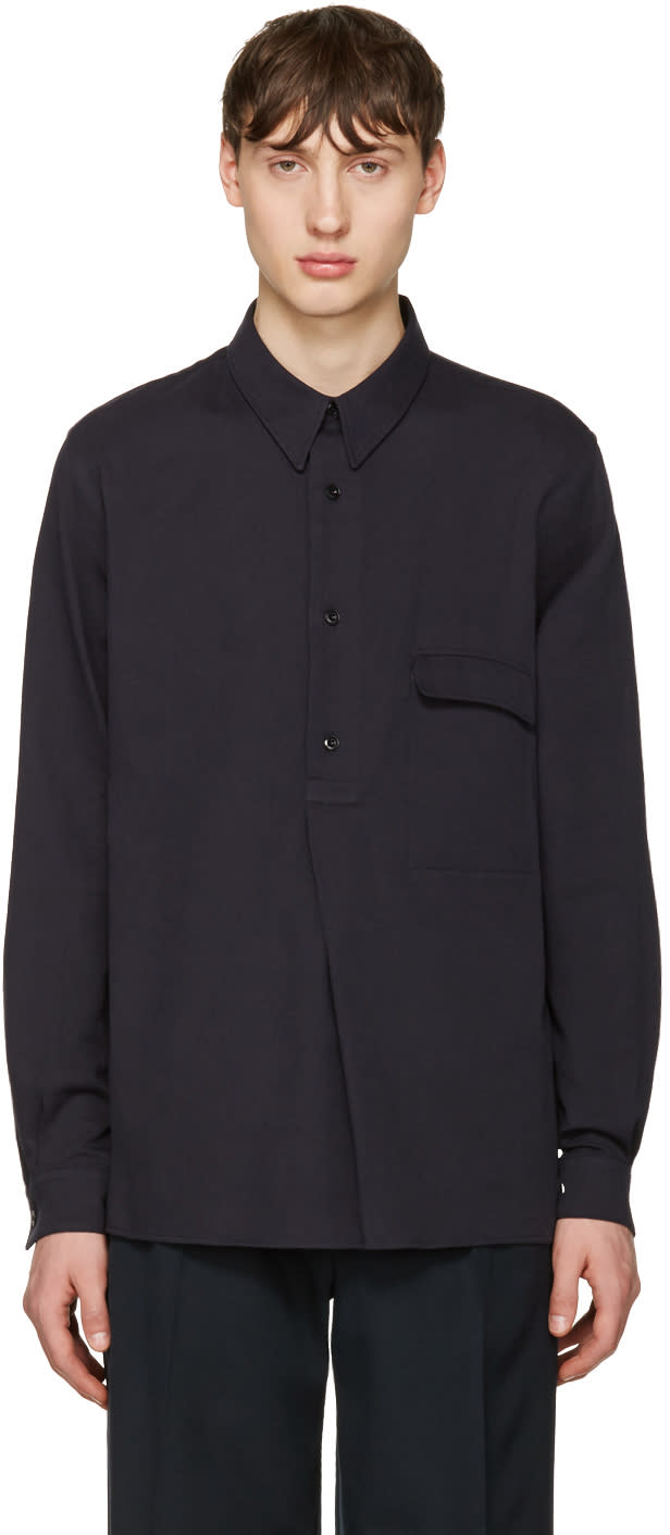 Lemaire Navy Twill Overshirt