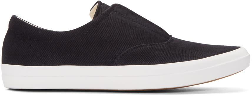 Lemaire Black Denim Slip-on Sneakers