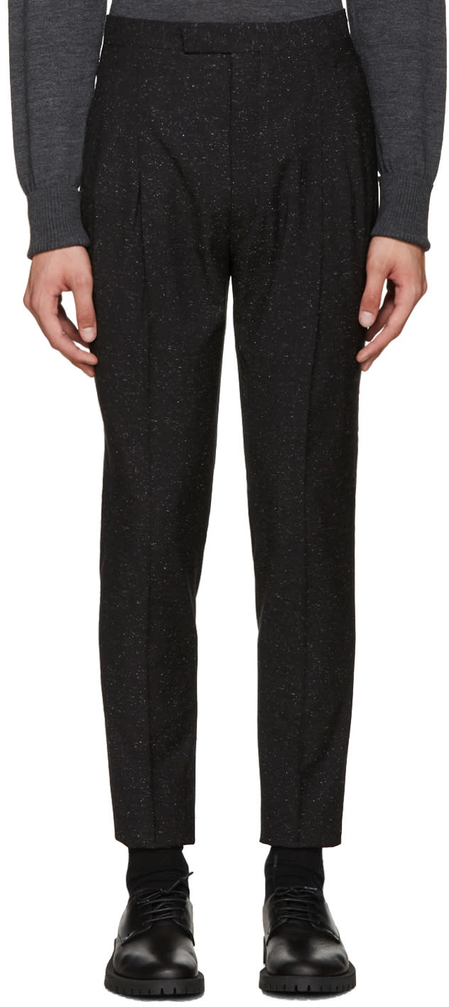 Etudes Black Speckled Tomorrow Trousers