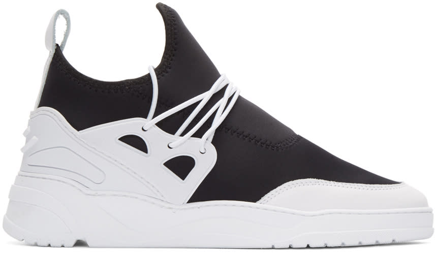 Filling Pieces Black and White Astro Runner Jinx Sneakers