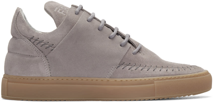 Filling Pieces Grey Suede Apache Sneakers