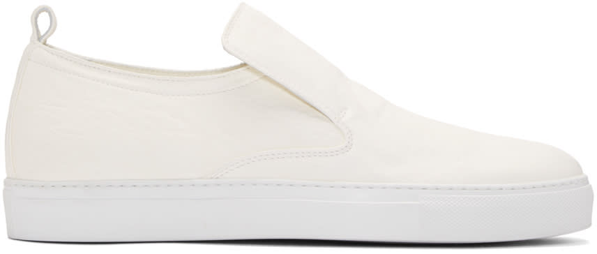 Ad Ann Demeulemeester White Arid Slip-on Sneakers