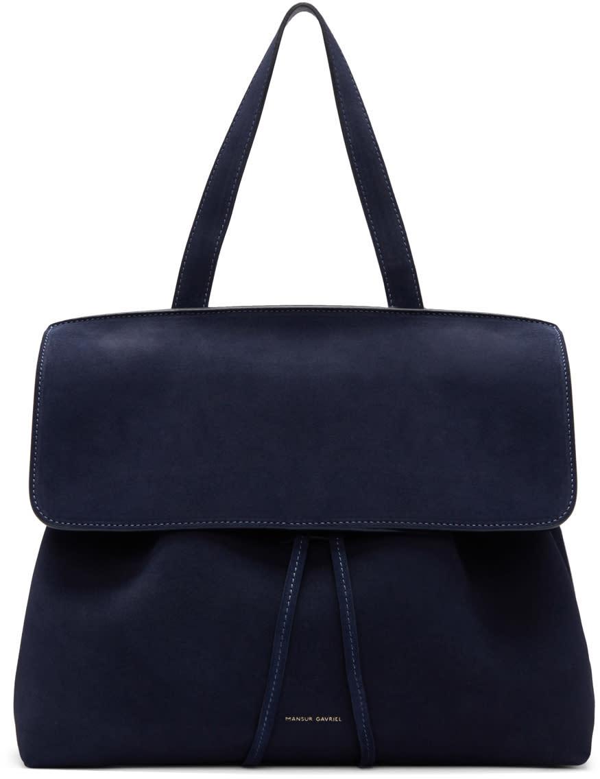 Mansur Gavriel Navy Suede Lady Bag