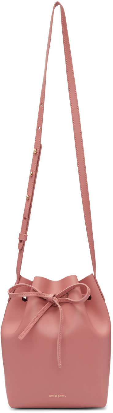 Mansur Gavriel Pink Leather Mini Bucket Bag