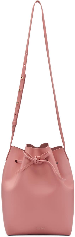 Mansur Gavriel Pink Leather Bucket Bag