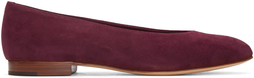 Mansur Gavriel Purple Suede Ballerina Flats
