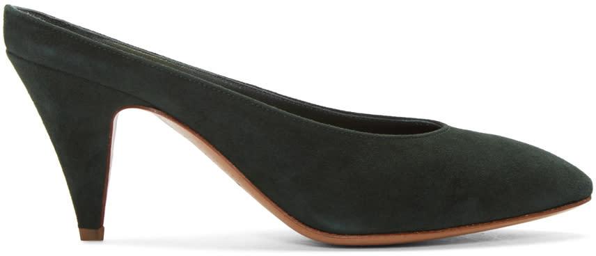 Mansur Gavriel Green Classic Slipper Heels