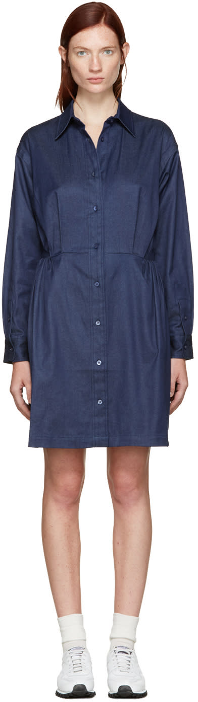 Edit Blue Chambray Shirt Dress