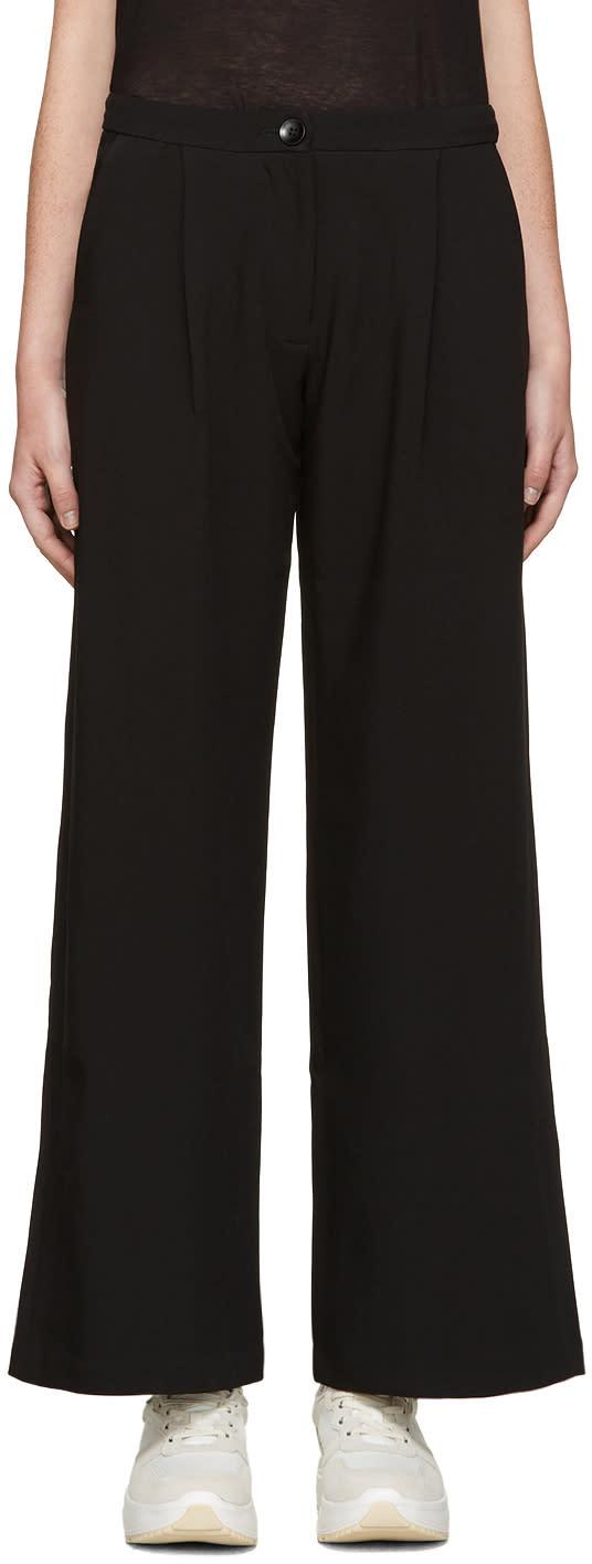 Edit Black Wide-leg Trousers