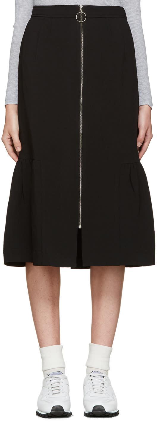 Edit Black Fishtail Skirt