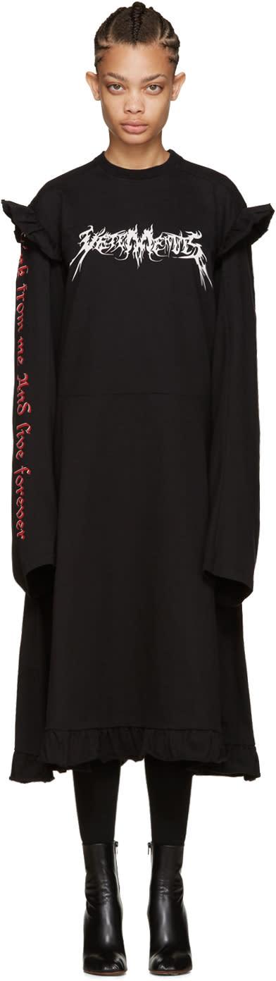 Vetements Black 70s Logo Dress