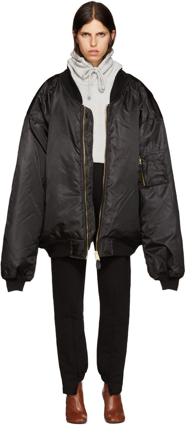 Vetements Black Oversized Bomber Jacket