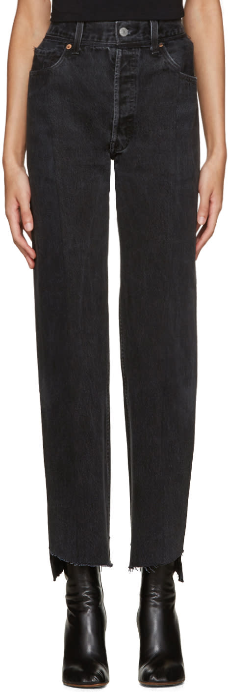 Vetements Black Reworked Jeans