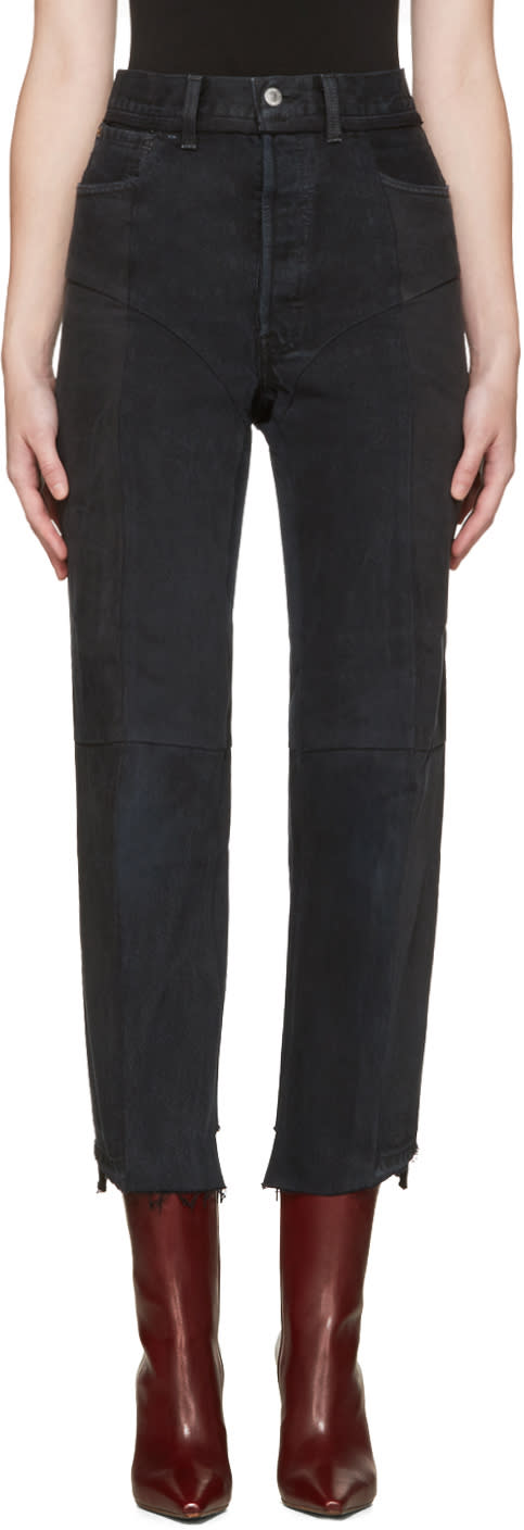Vetements Ssense Exclusive Black Reworked Jeans