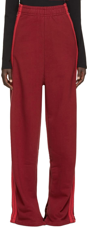 Vetements Burgundy Wide-leg Lounge Pants