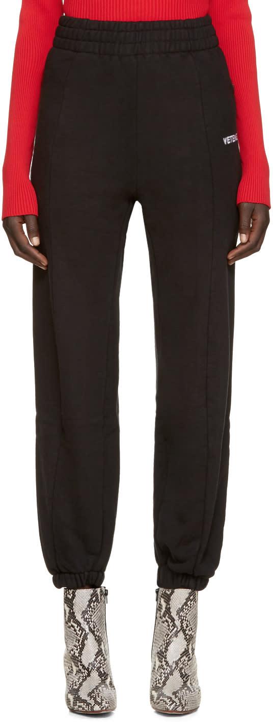 Vetements Black Biker Fitted Lounge Pants