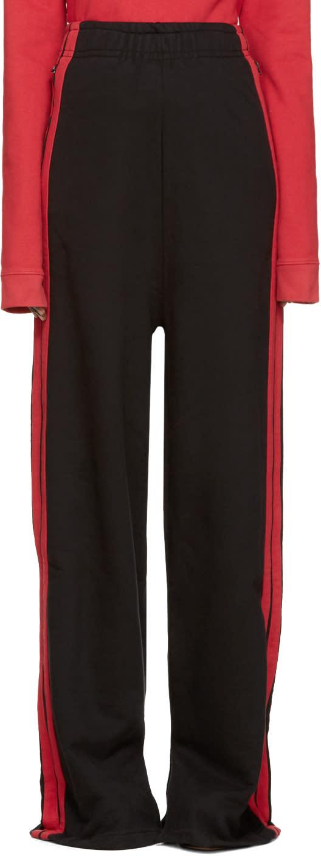 Vetements Black Wide-leg Lounge Pants
