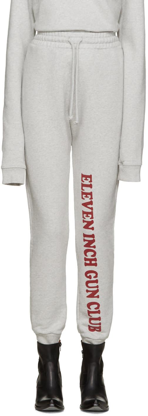 Vetements Grey eleven Inch Gun Club Lounge Pants