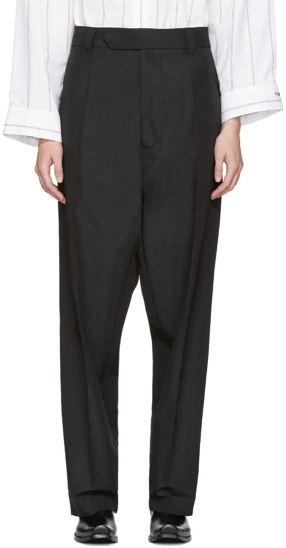 Vetements Black Baggy Suit Trousers