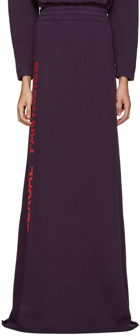 Vetements Purple sexual Fantasies Skirt