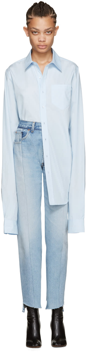Vetements Blue Long Classic Shirt