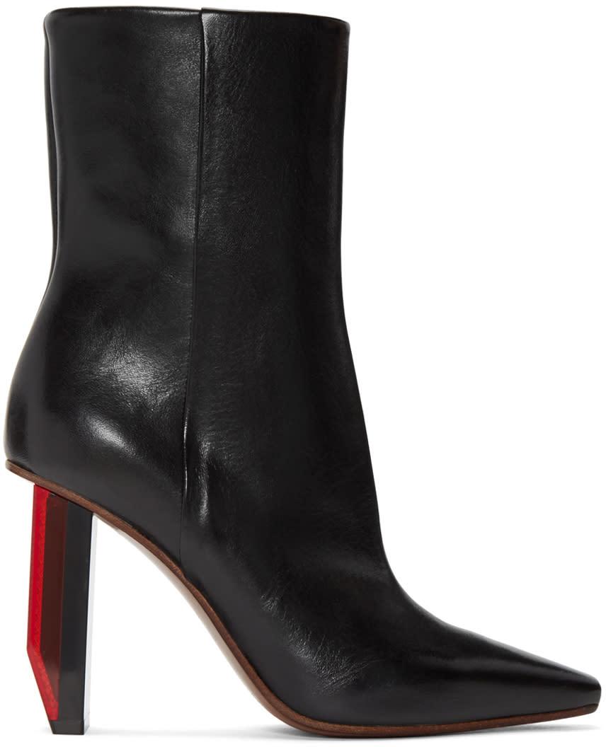 Vetements Black Reflector-heel Boots