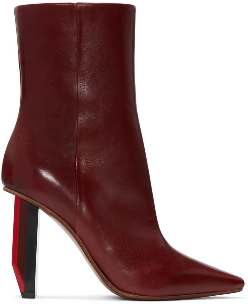 Vetements Burgundy Reflector-heel Boots