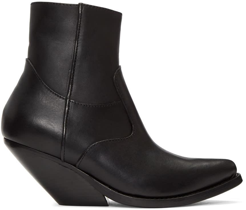 Vetements Black Cowboy Boots