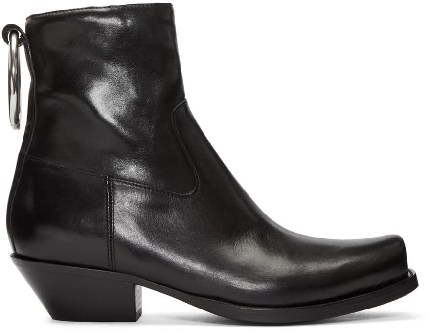Vetements Black Cowboy Ring Boots