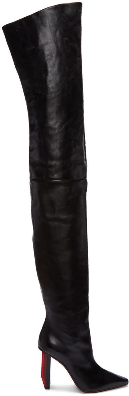 Vetements-Black-Reflector-heel-Over-the-knee-Boots