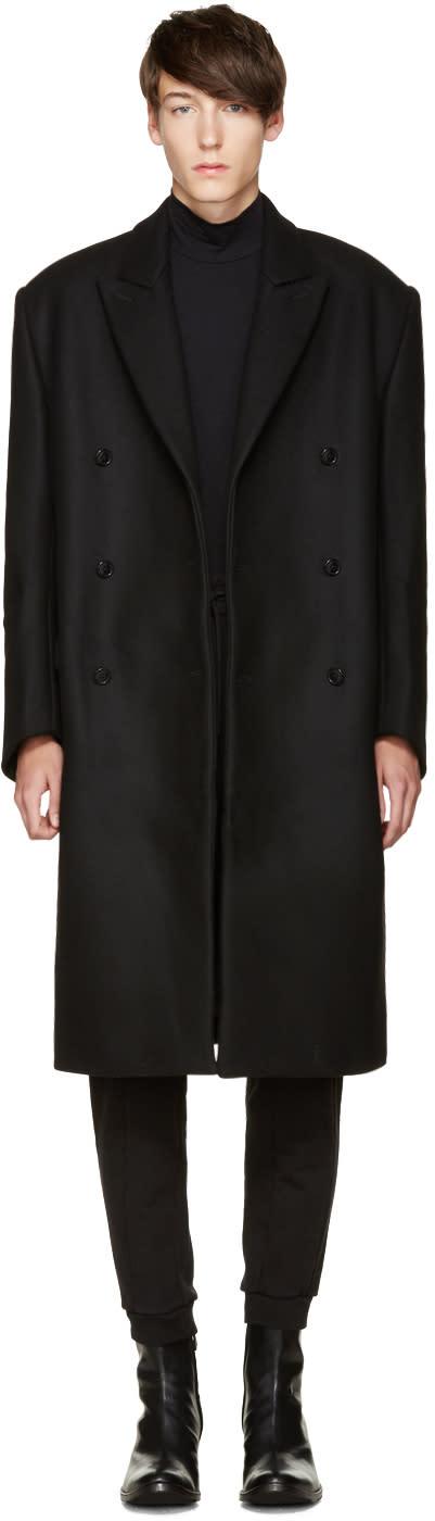 Vetements Black Oversized Double-breasted Coat