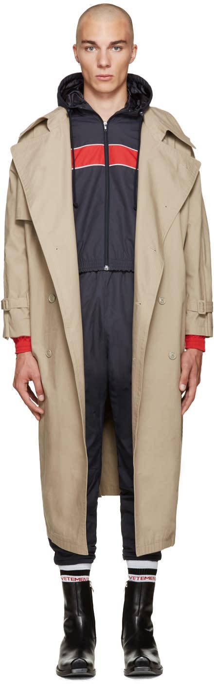 Vetements Beige Oversized Trench Coat