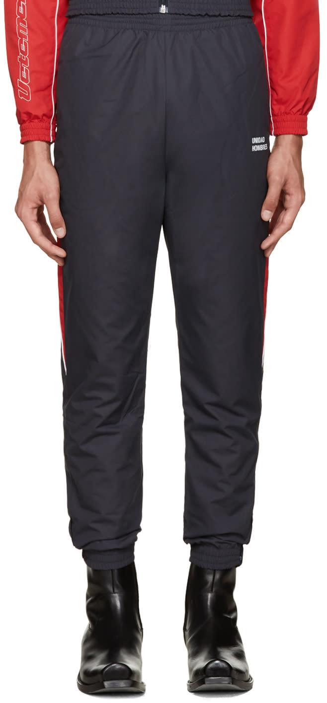 Vetements Navy unidad Hombres Track Pants