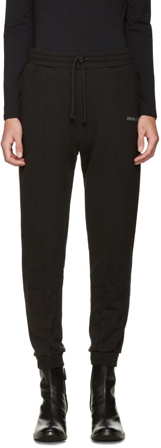 Vetements Black Embroidered Logo Lounge Pants