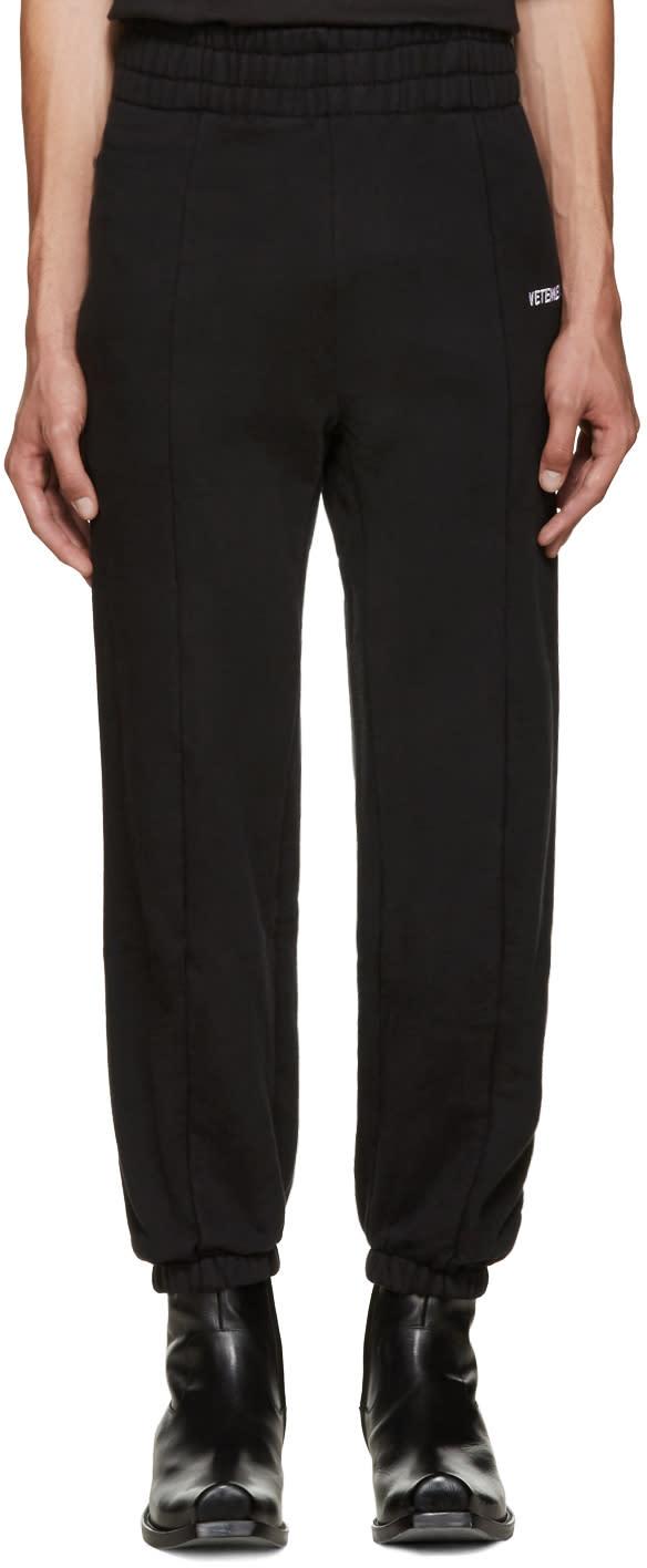 Vetements Black Biker Lounge Pants