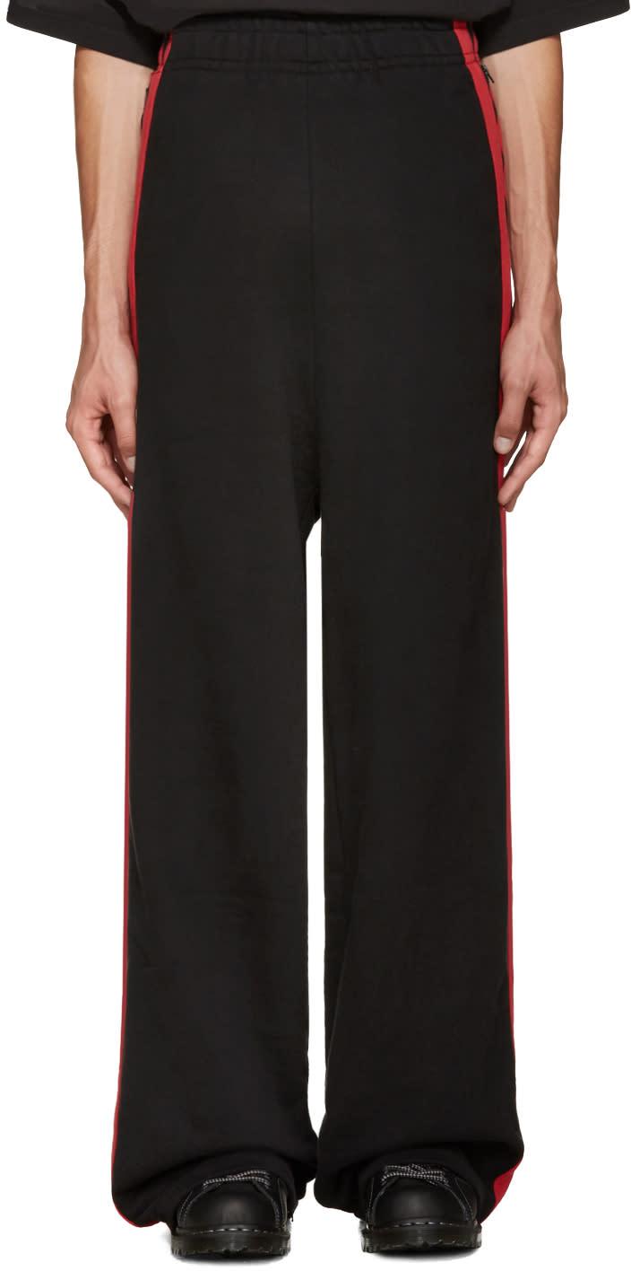 Vetements Black Oversized Lounge Pants