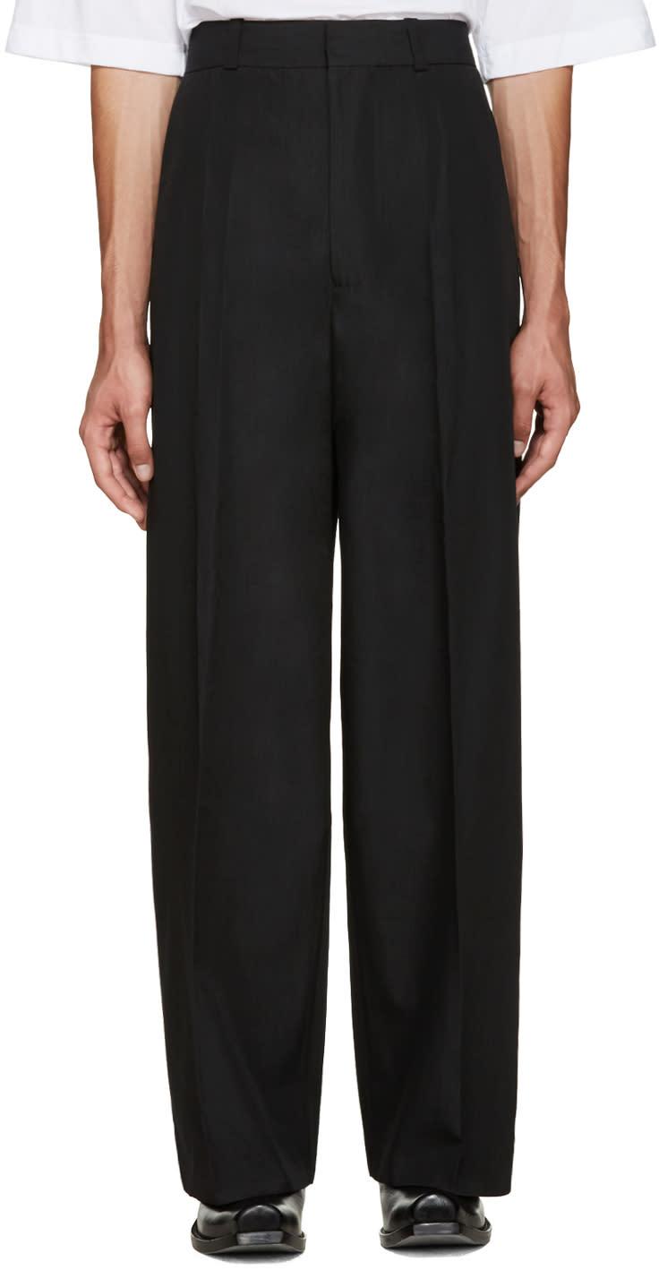 Vetements Black Oversized Suit Trousers