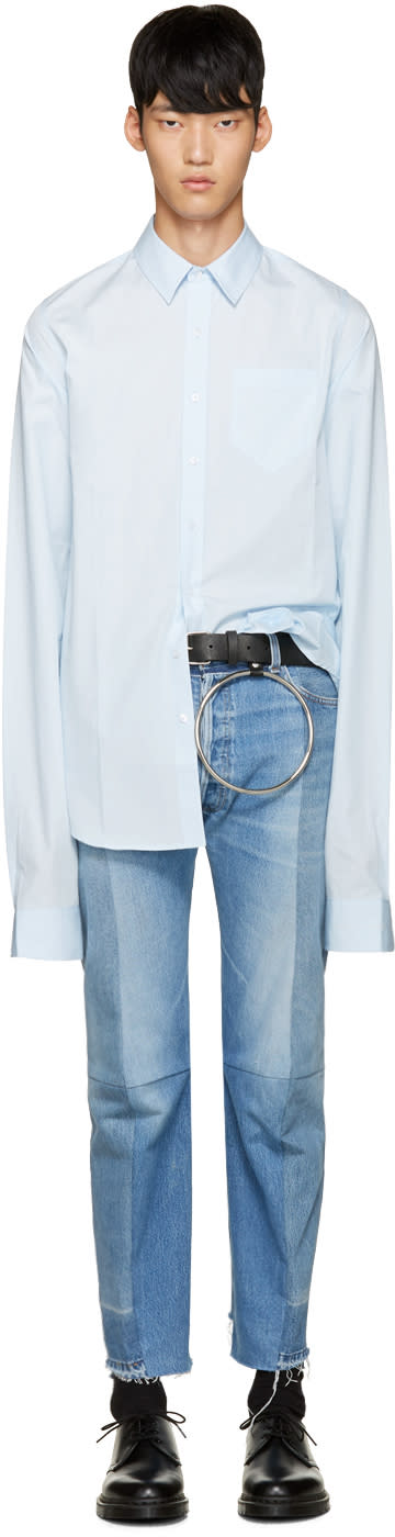 Vetements Blue Poplin Shirt